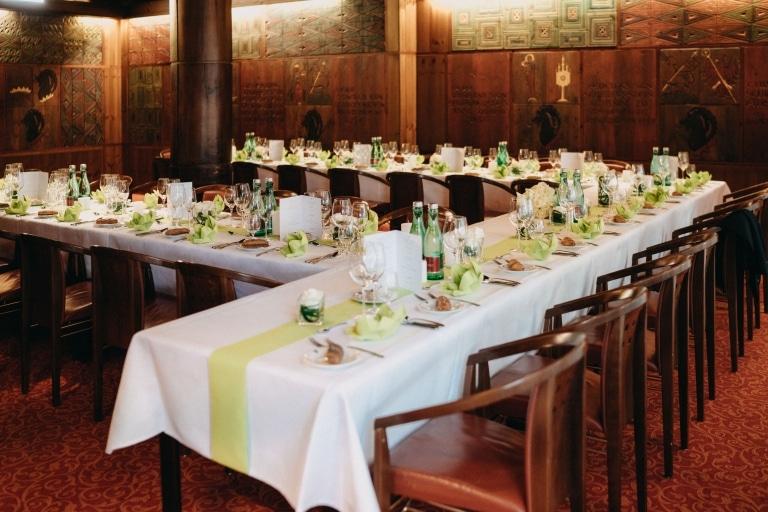 Der Rittersaal im Hotel Schrofenstein in Landeck ist die ideale Location für Ihre Hochzeit